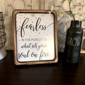 3/$15❗️Vintage Natural Wood Frame Quote